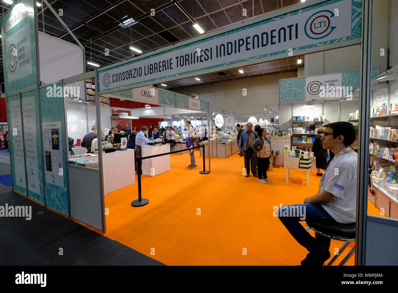 Turin, Piedmont, Italy, 10th May, 2018. International Book fair 2018,first day.Independent Bookstore of Torino city Credit: RENATO VALTERZA/Alamy Live News - Stock Image