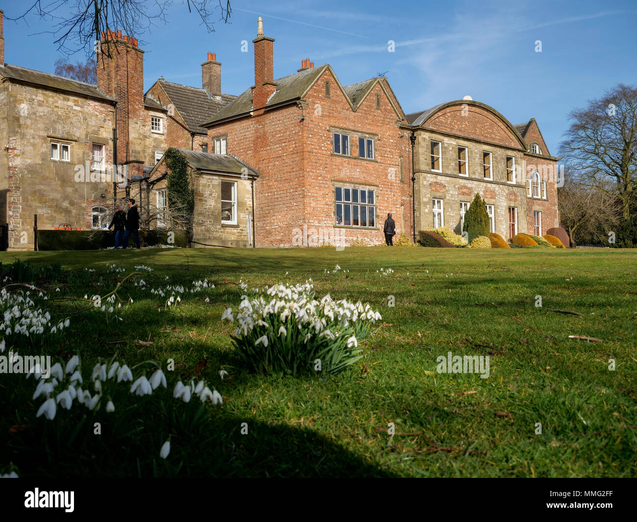 Hopton Hall in Derbyshire England - Stock Image