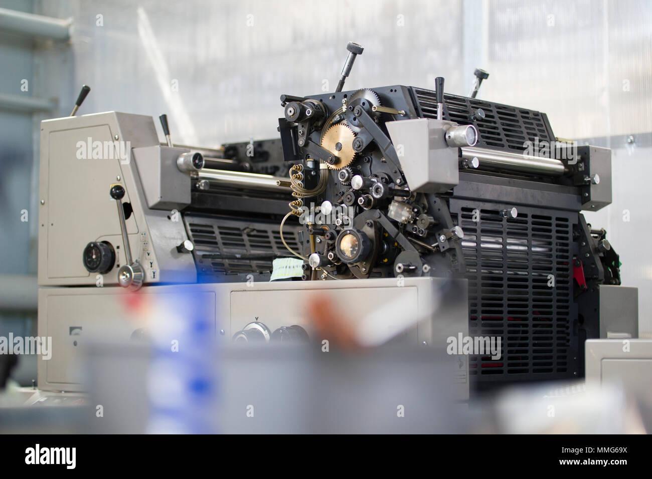 Modern Printing Press Machine In A House