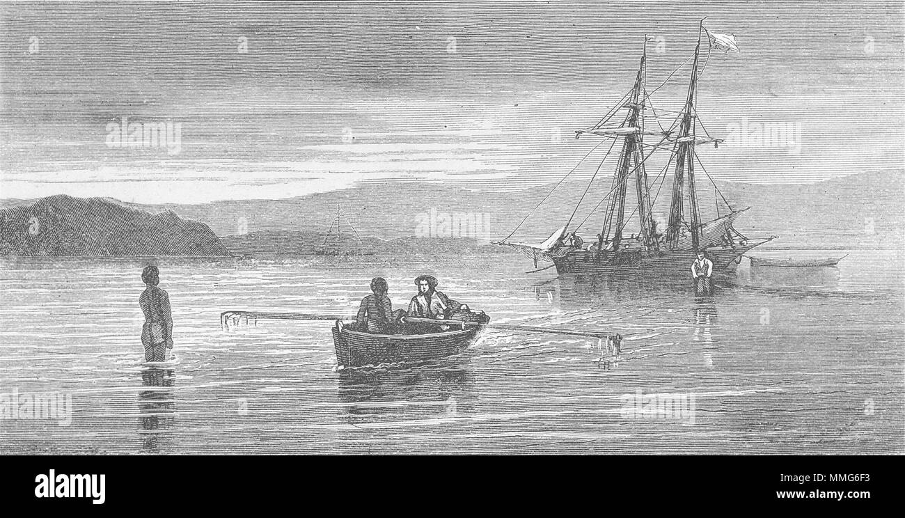 New Caledonia Bay of St Vincent  1880 old antique print picture PORTUGAL