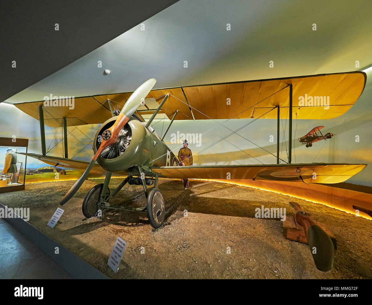Krakow Polish aviation museum and the Sopwith F.1 Camel Poland - Stock Image
