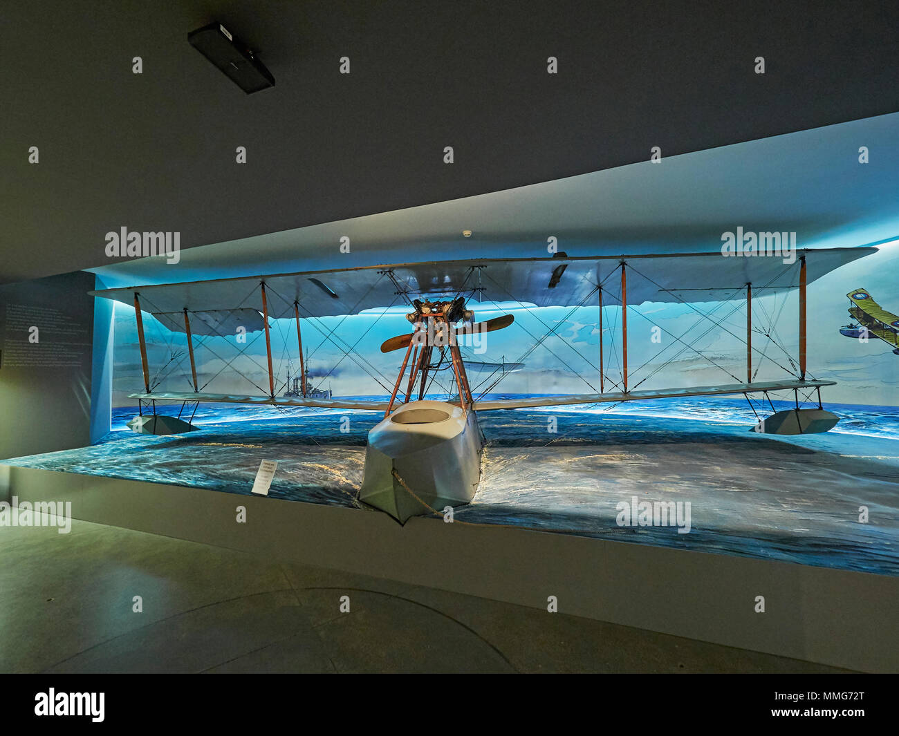 Krakow Polish aviation museum and the Grigorovich M-15 Russian WW I flying boat from World War One Poland - Stock Image