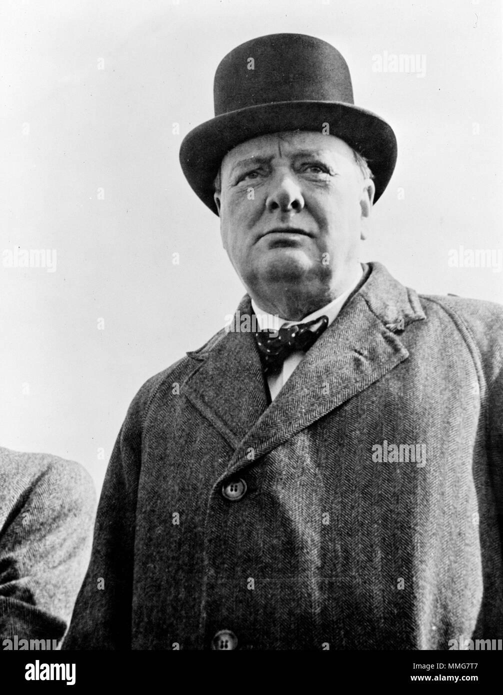 Prime Minister Winston Churchill of Great Britain - Stock Image