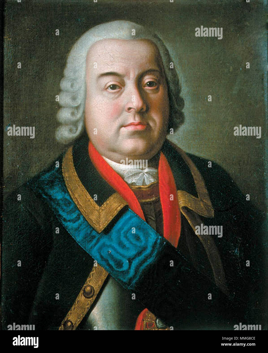 Prince Nikita Yurievich Trubetskoy (1699 – 1767) Russian statesman and Field Marshal (1756), minister of defense of Russia 1760. - Stock Image