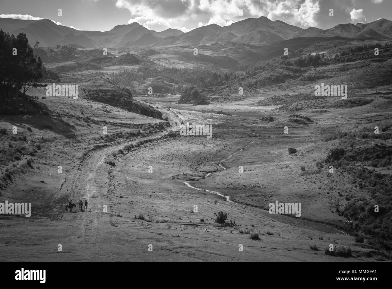 Cusco Region Outskirts Area around the City - Stock Image