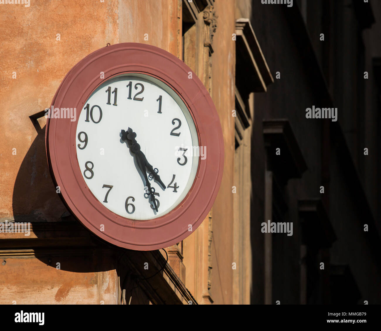 Clock in Rome, Italy, Europe - Stock Image