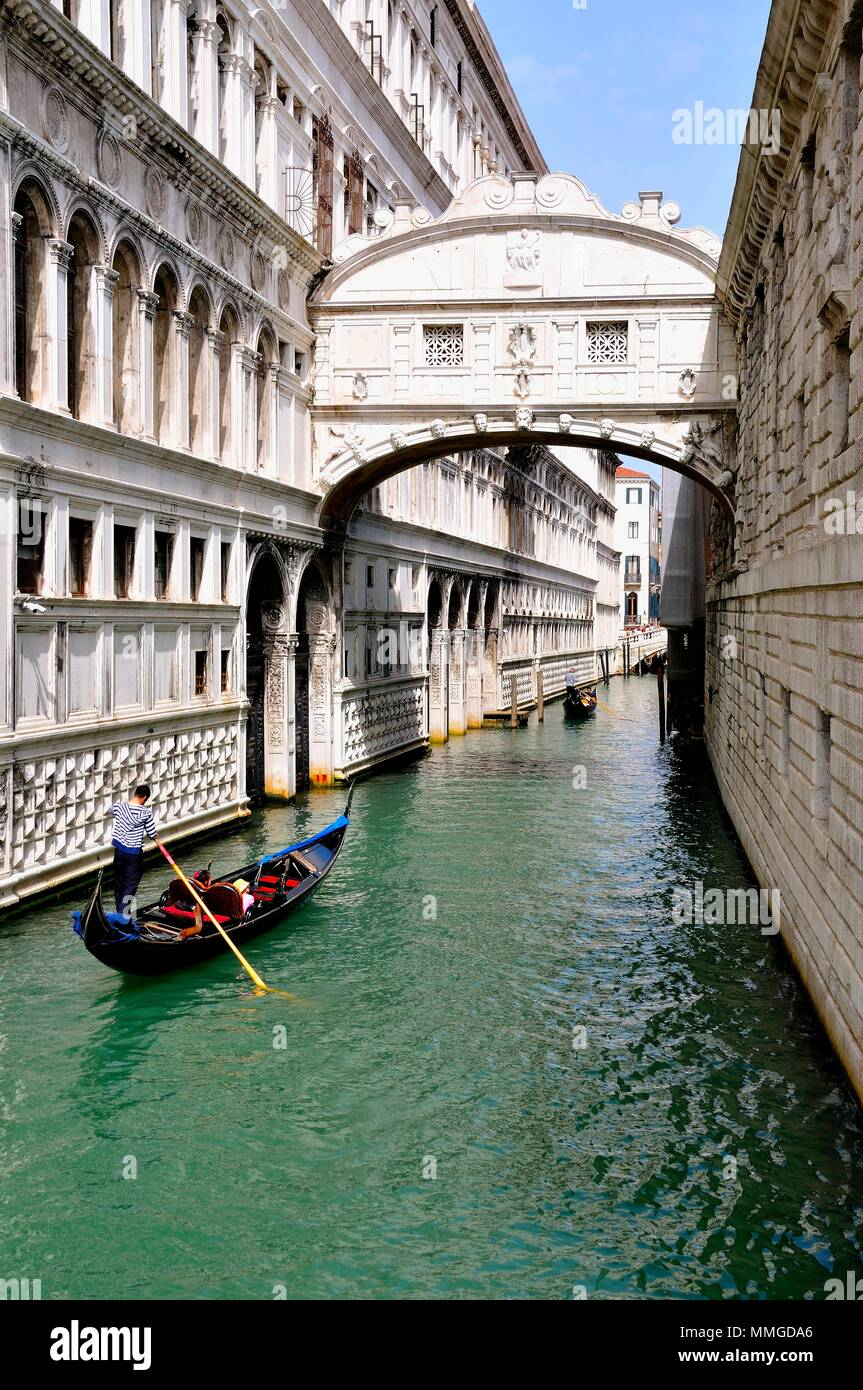 Bridge Of Sighs Venice Italy - Stock Image