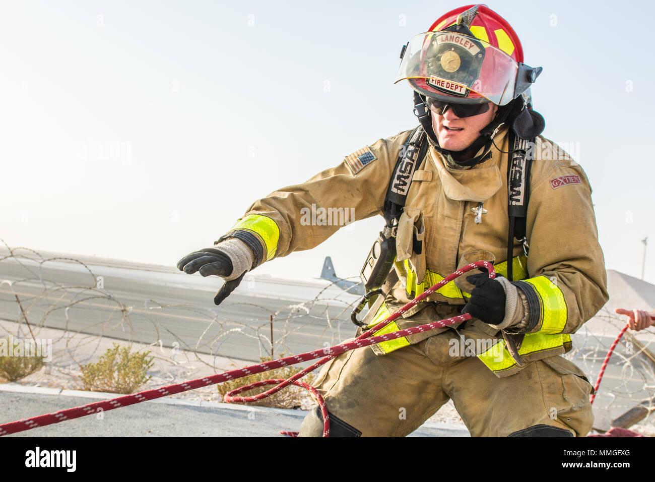 Firefighter Combat Challenge Stock Photos & Firefighter