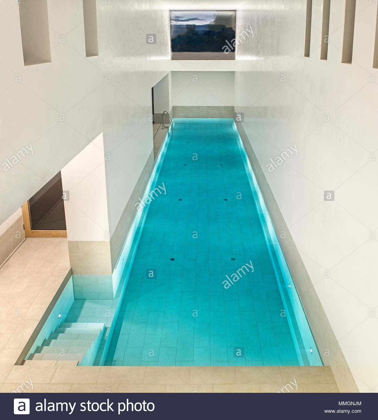 Luxury Indoor Swimming Pool Private Pool Perfect For Relaxation Or Exercise Stock Photo Alamy