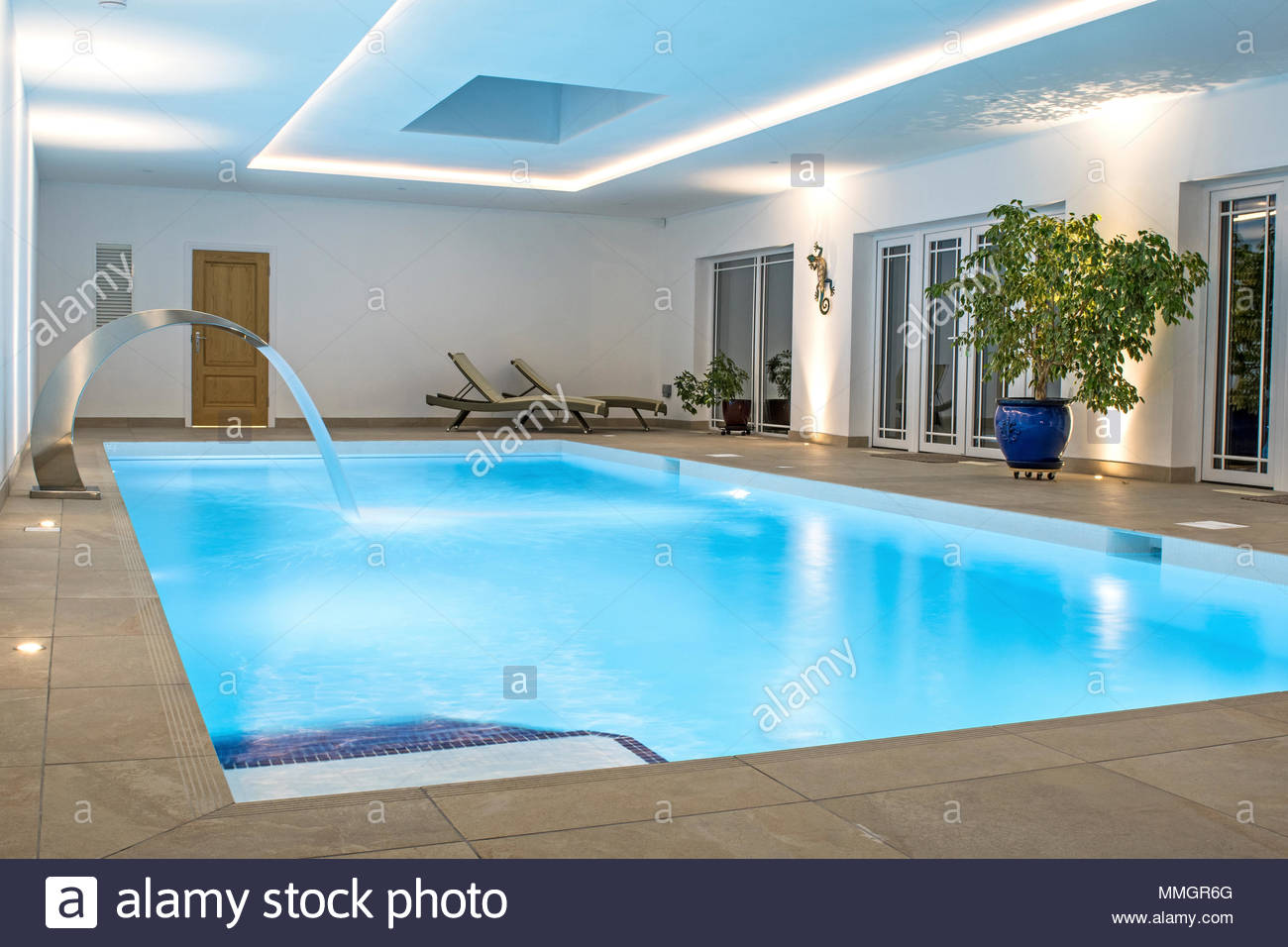 Luxury indoor swimming pool. Private pool, perfect for relaxation or ...
