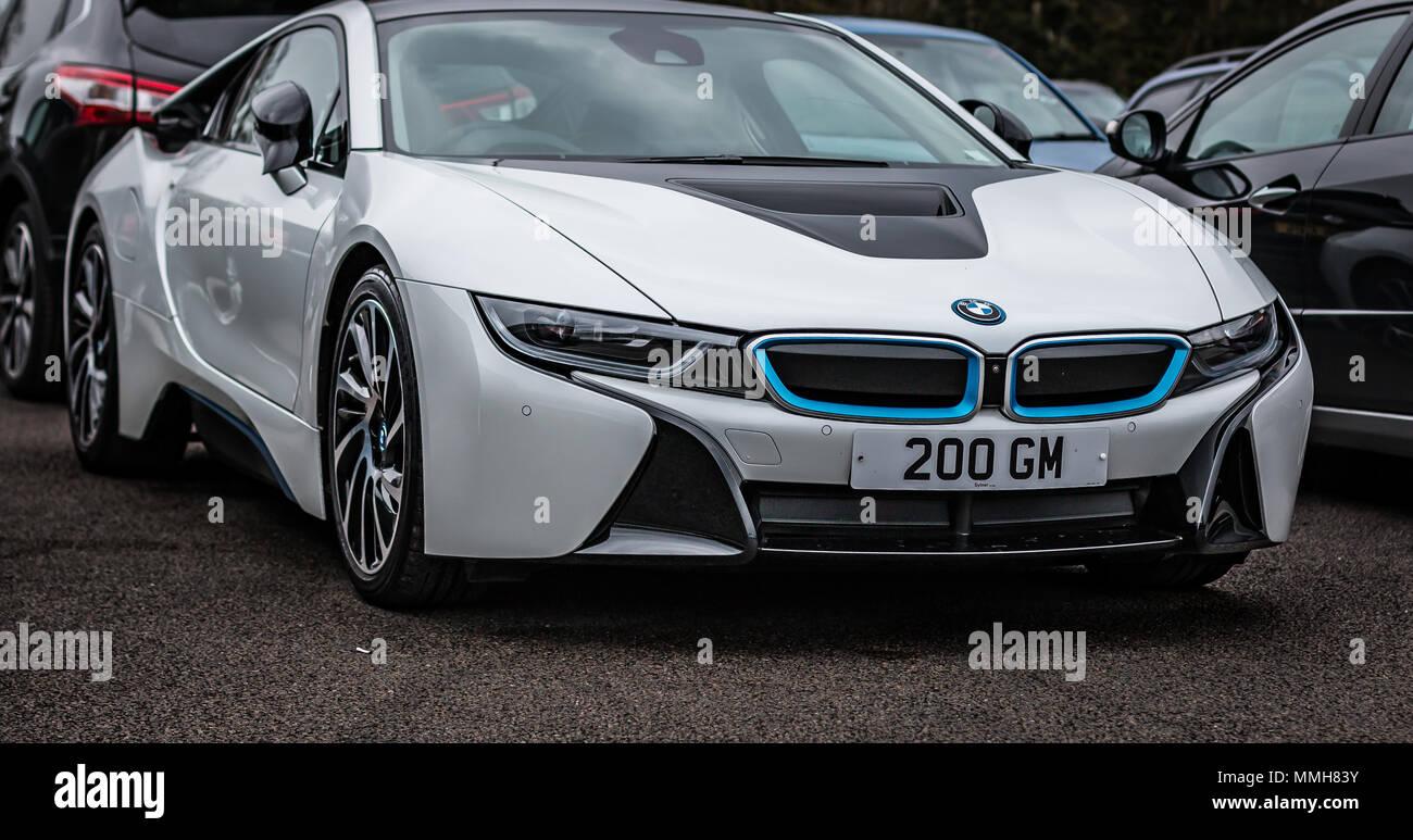 A White Bmw I8 Sports Car Stock Photo 184776367 Alamy