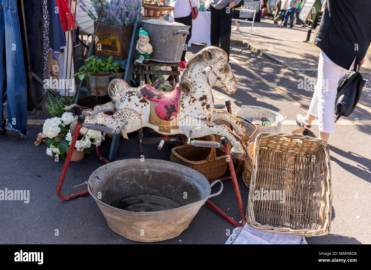 The Frome Flea, Frome Sunday Market, Frome Somerset, England - Stock Image