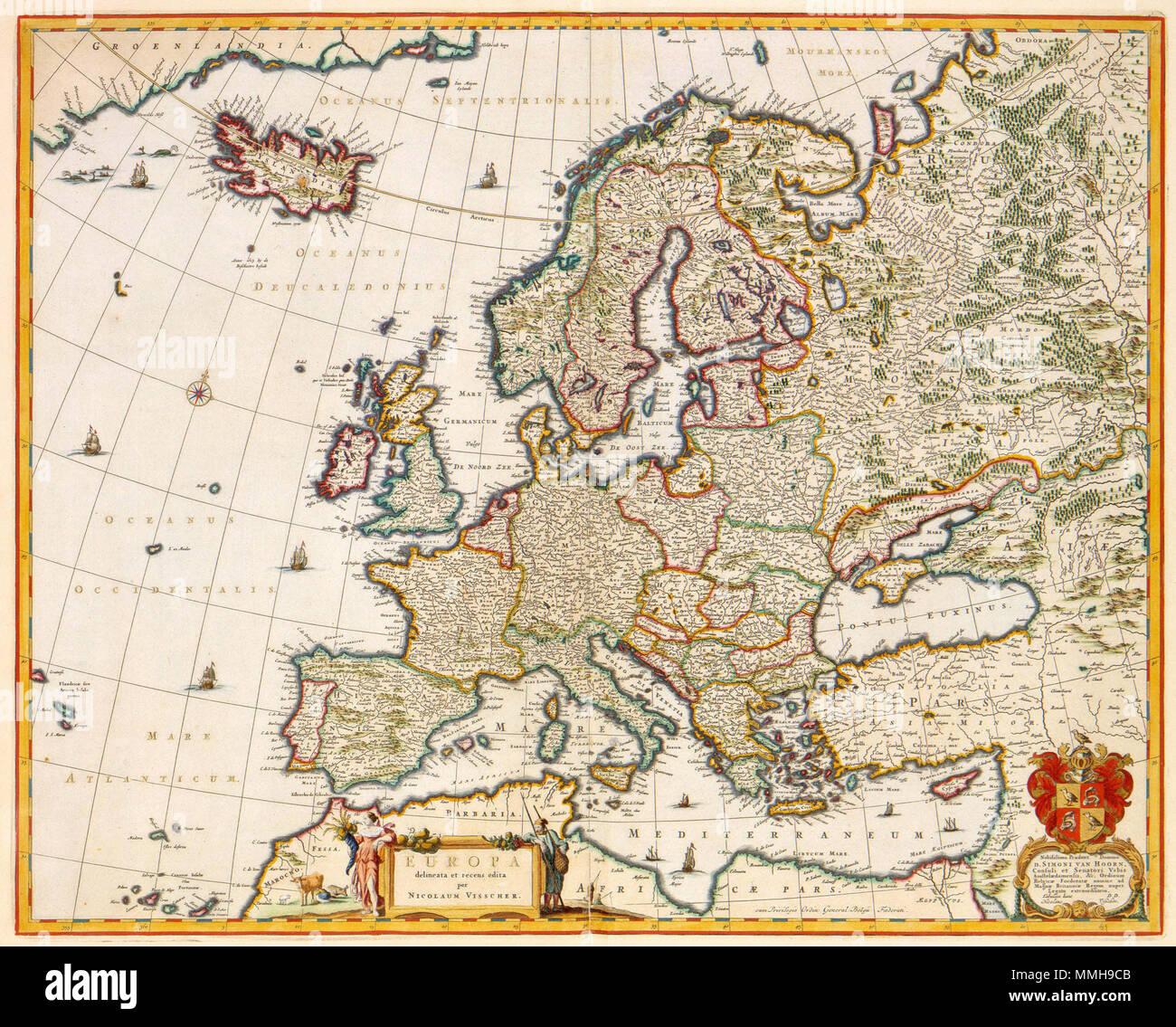 Nederlands Deze Kaart Van Europa Werd Gepubliceerd Door Nicolaes
