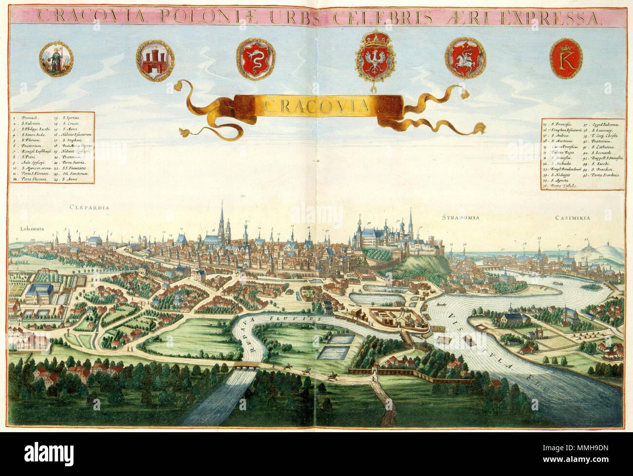 De Eeuw Van De Stad.Nederlands De Poolse Stad Krakow Werd In De 8de Eeuw