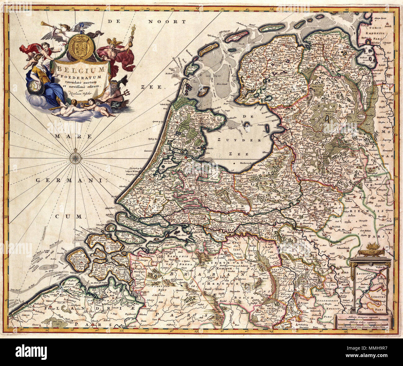 Limburg Map Stock Photos Limburg Map Stock Images Alamy