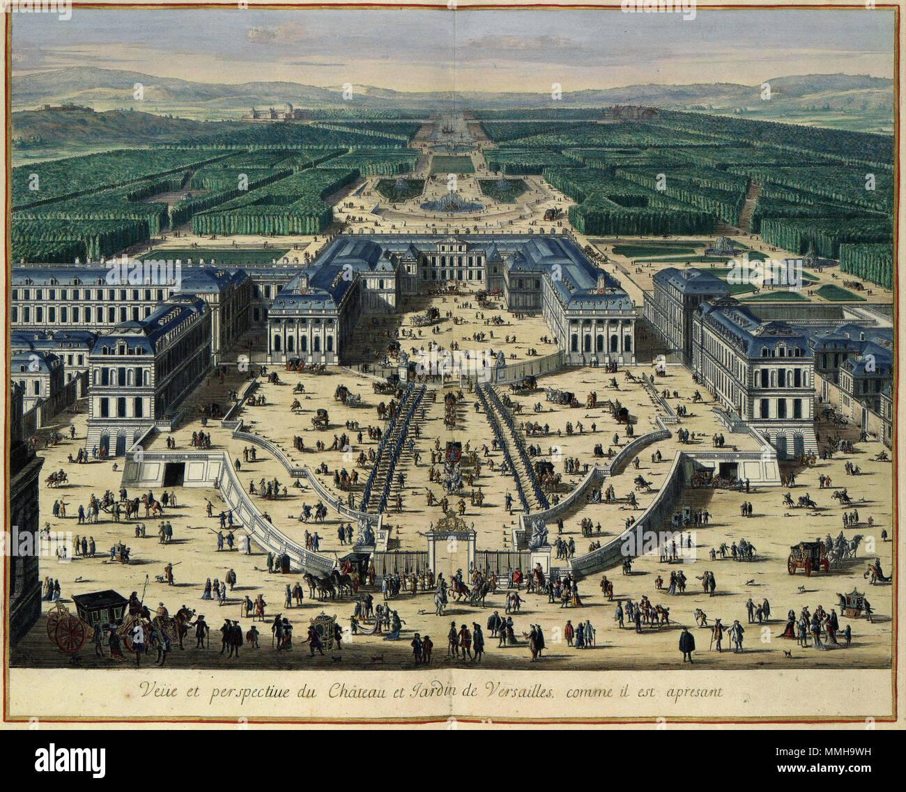 Nederlands Dit Gezicht Op Het Kasteel En De Tuinen Van Versailles