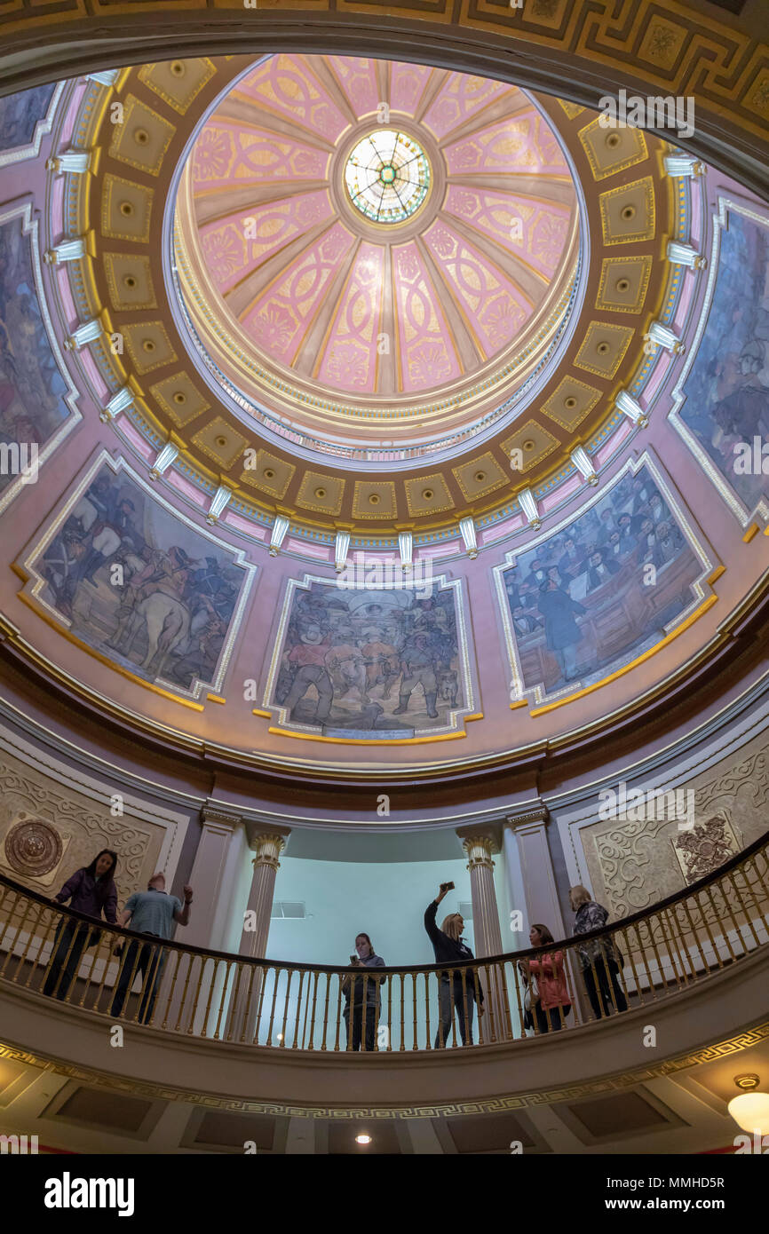 Montgomery, Alabama - The dome of the Alabama State Capitol. - Stock Image
