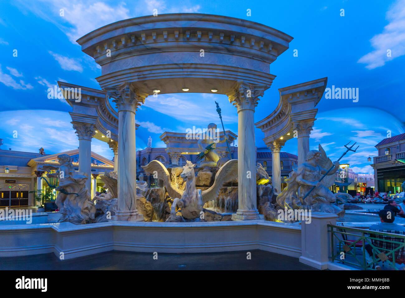 Interior Of Caesars Palace Las Vegas Hotel And Casino On The Las