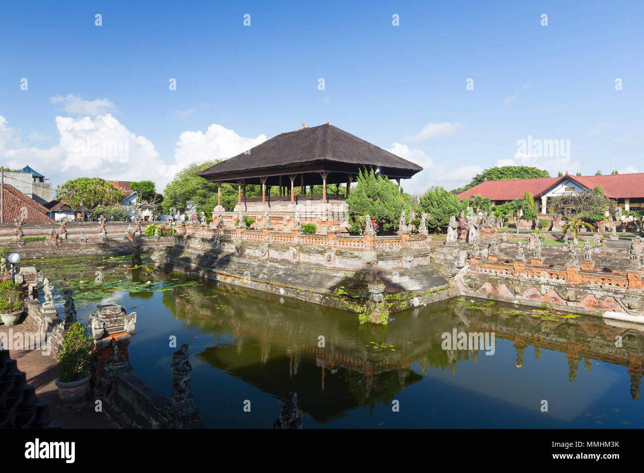 Taman Kertha Gosa floating pavilion or Bale kambang, Klungkung or Semarapura, Bali, Indonesia - Stock Image