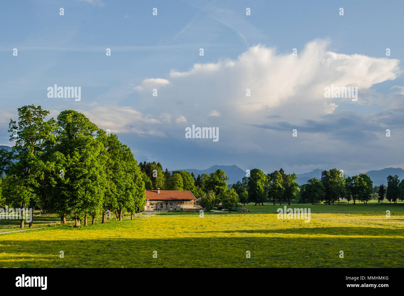 typical Bavarian landskape - Stock Image