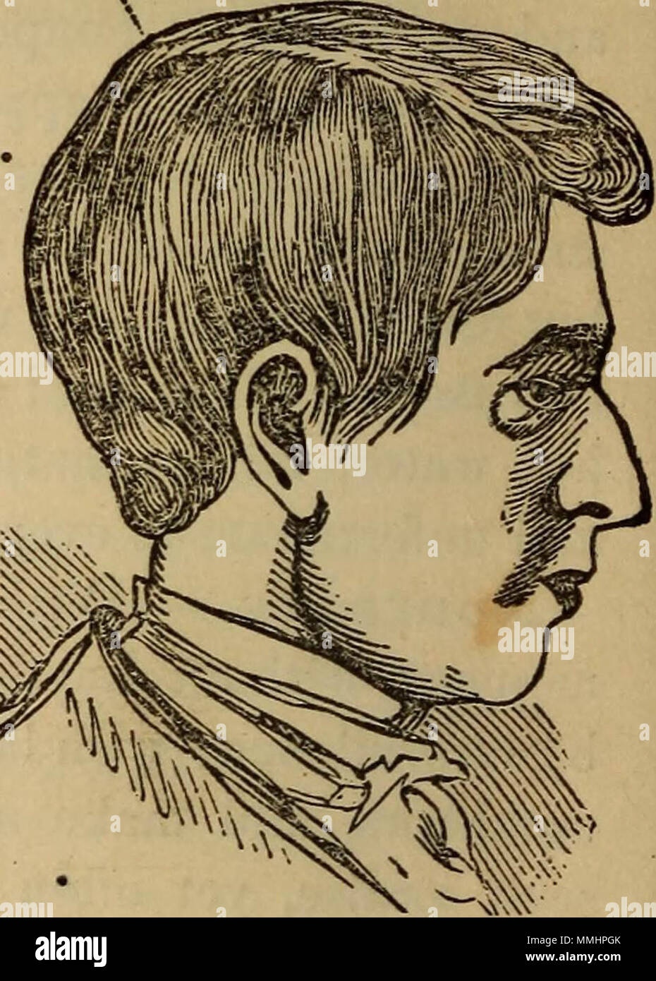 """The practical phrenologist and recorder and delineator of the character and talents of [blank], as marked by [blank] : a compendium of phreno-organic science"" (1869) Stock Photo"