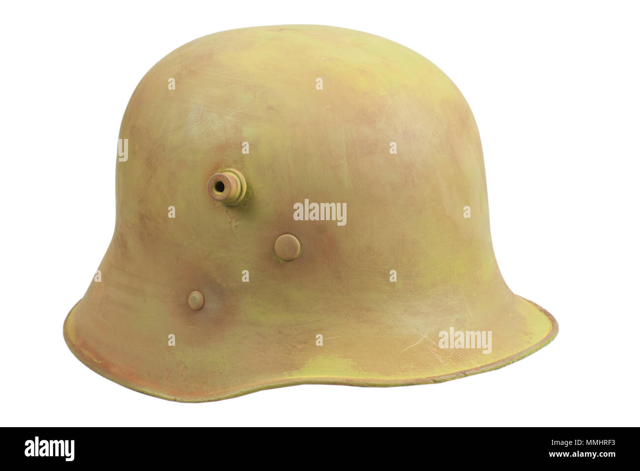 An Austro-Hungary World War One Stahlhelm M1916 military helmet - Stock Image