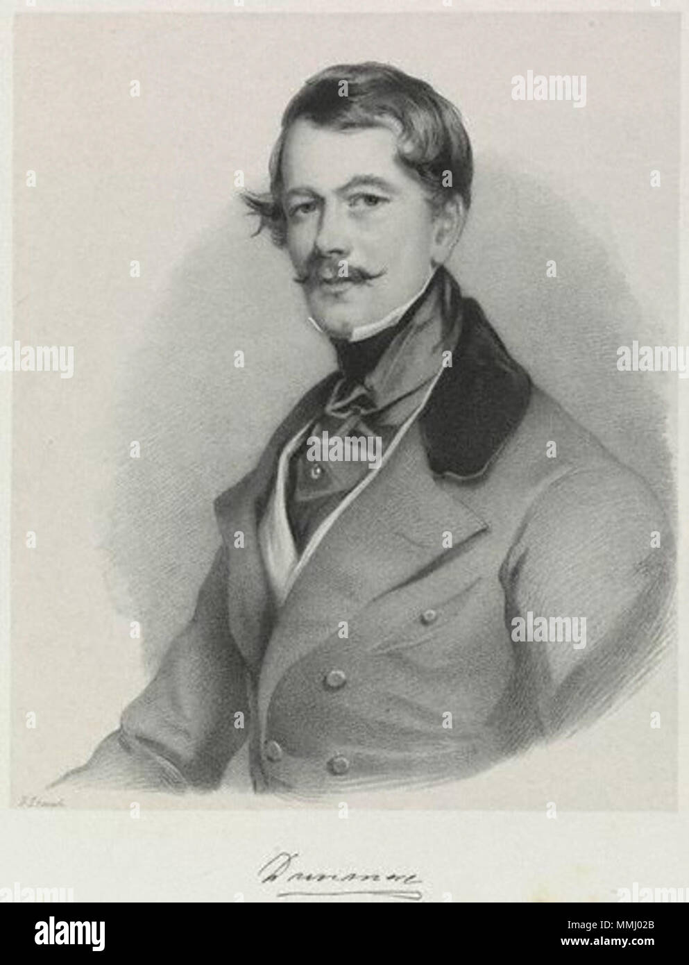 . English: Alexander Murray, 6th Earl of Dunmore (1804-1845)  by; after Richard James Lane; Sir Francis Grant,print,1846 6th Earl of Dunmore - Stock Image