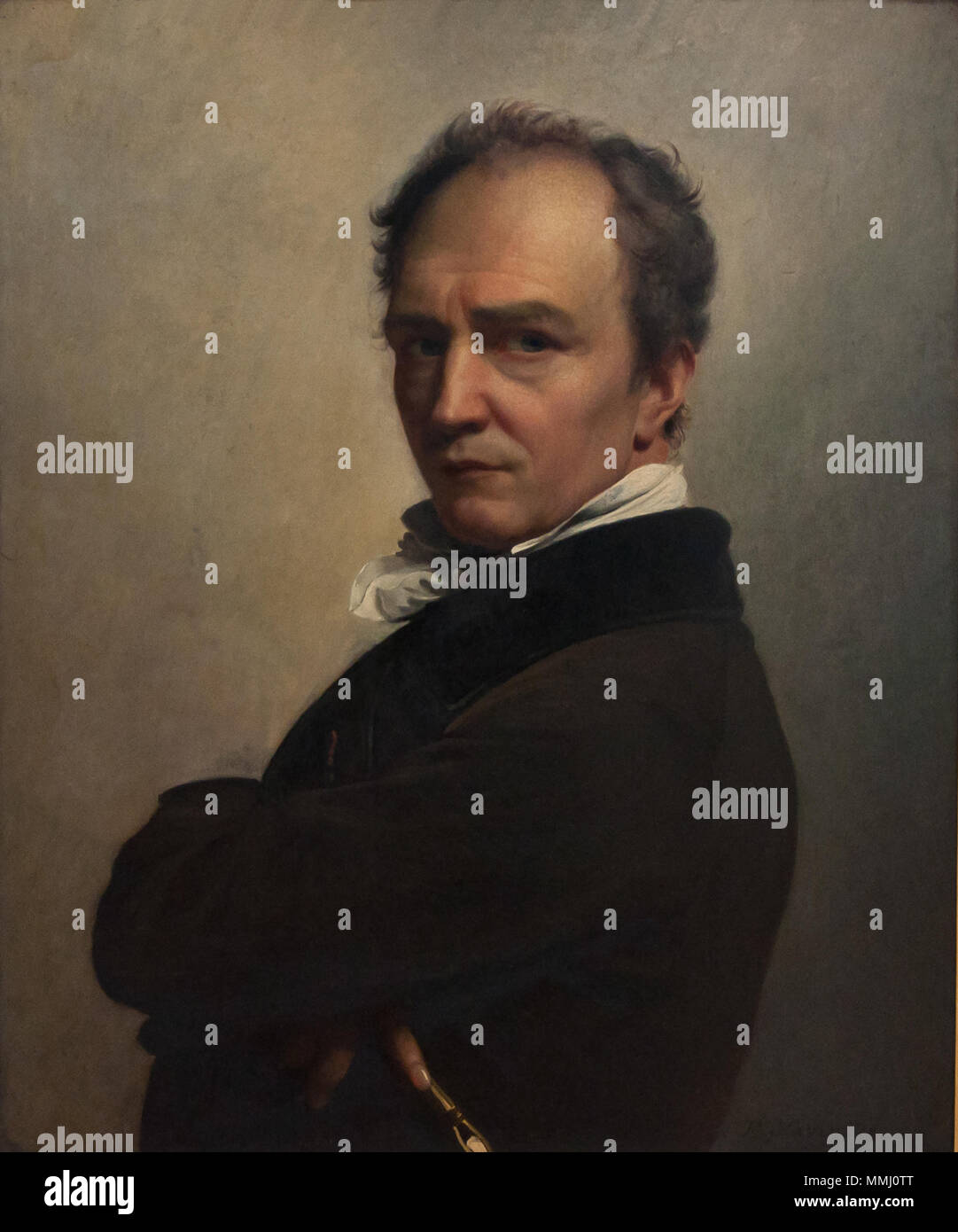 François-Joseph Navez (1787-1869) - Zelfportret (1826) - KMSK Brussel 25-02-2011 13-16-16 25-02-2011 14-16-16 Stock Photo