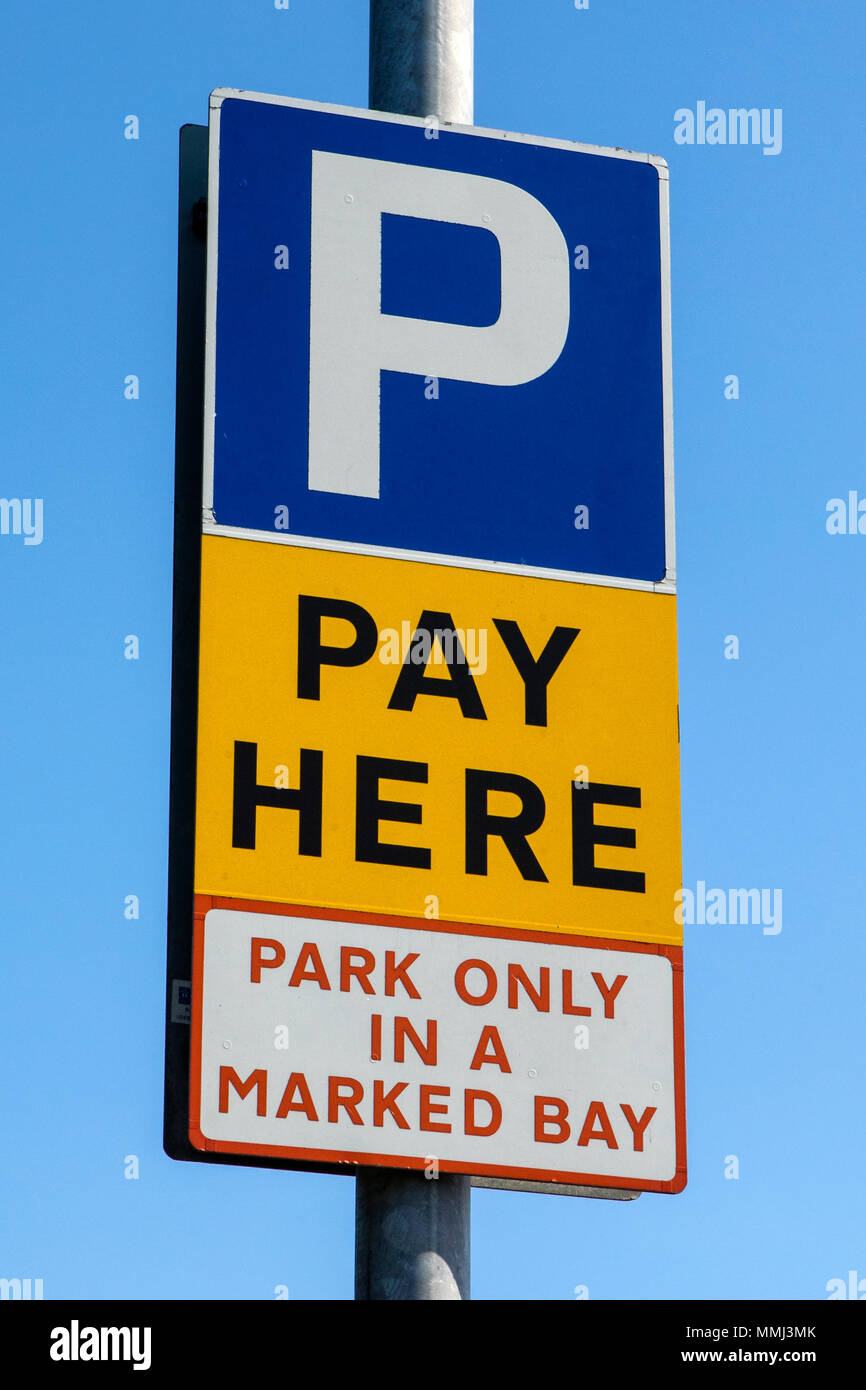 A Pay and Display Parking sign. - Stock Image