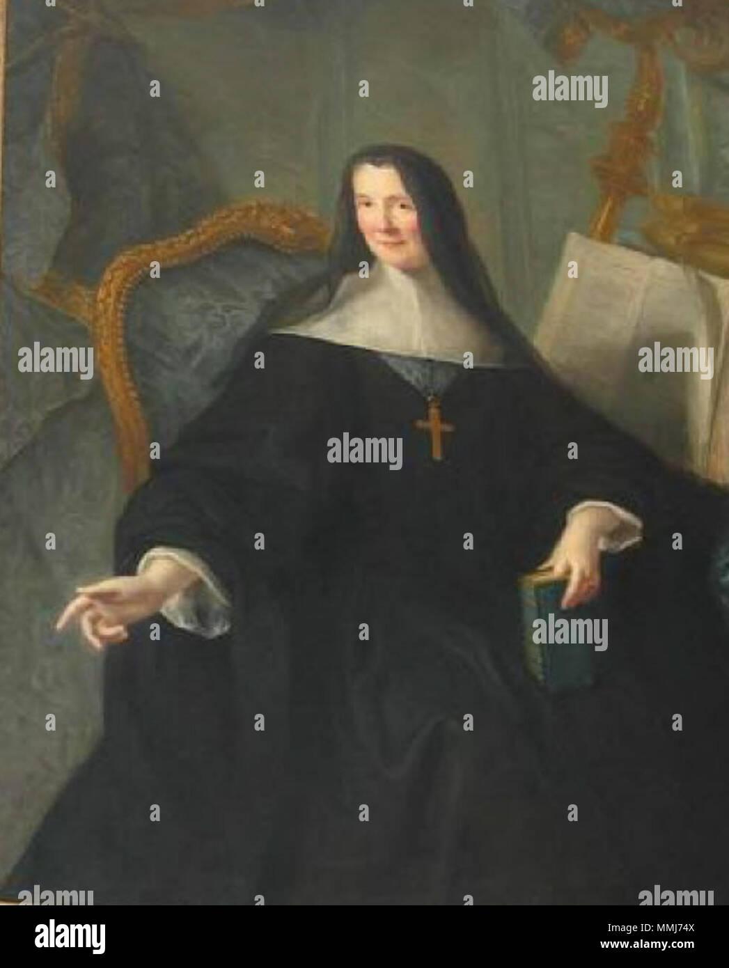 . English: Anne de Clermont-Chaste de Gessans, last abbess of Chelles Abbey  MuseumPlus 5.1.00 280 Anne de Clermont-Chaste de Gessans, last abbess of Chelles Abbey - Stock Image