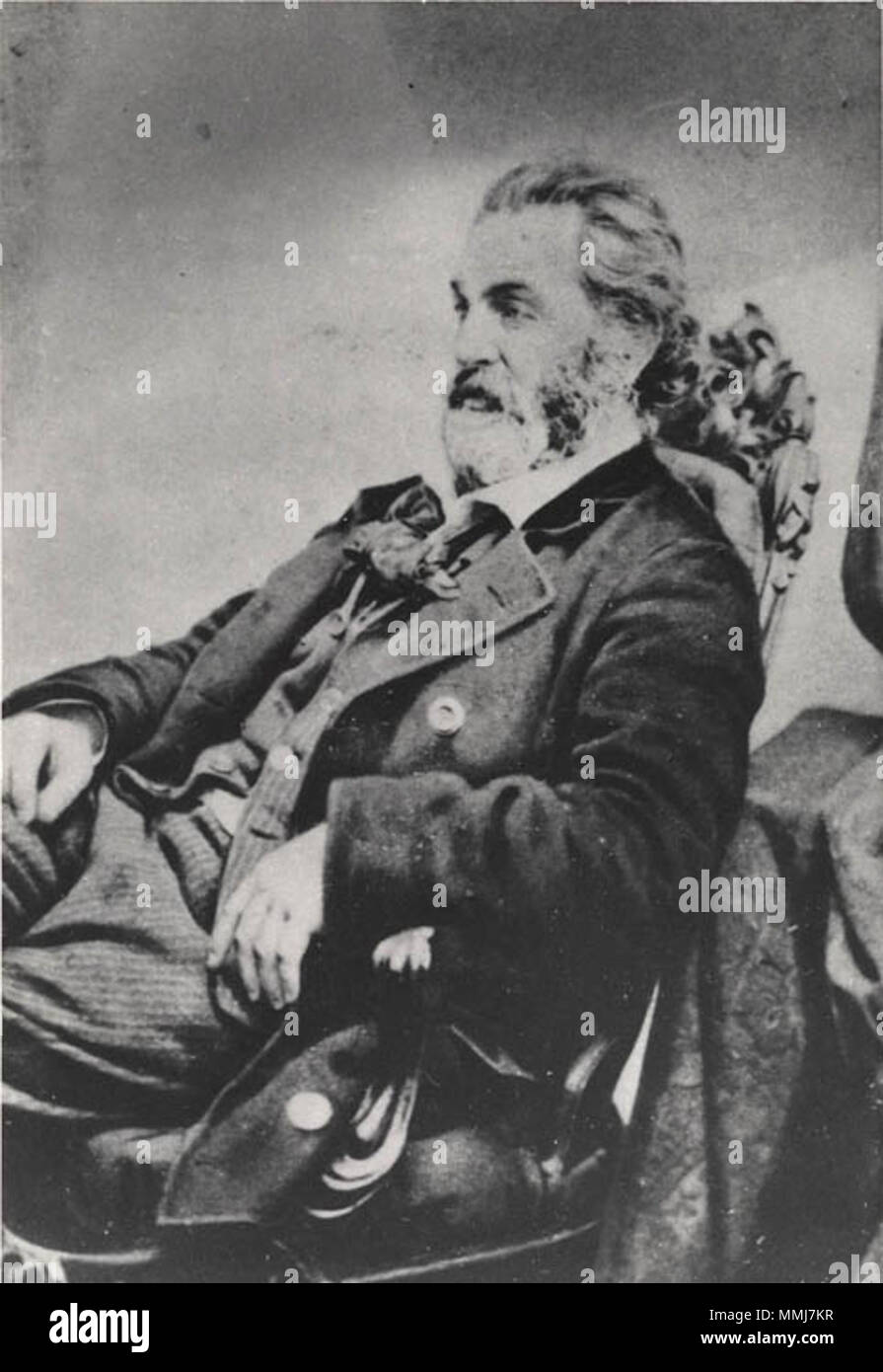 Portrait Of Walt Whitman Date 1860 Place Boston Photographer J W Black