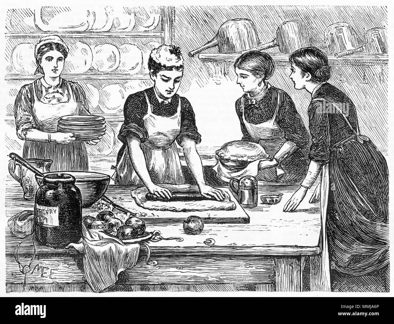 1800s Woman Cooking Stock Photos & 1800s Woman Cooking Stock Images