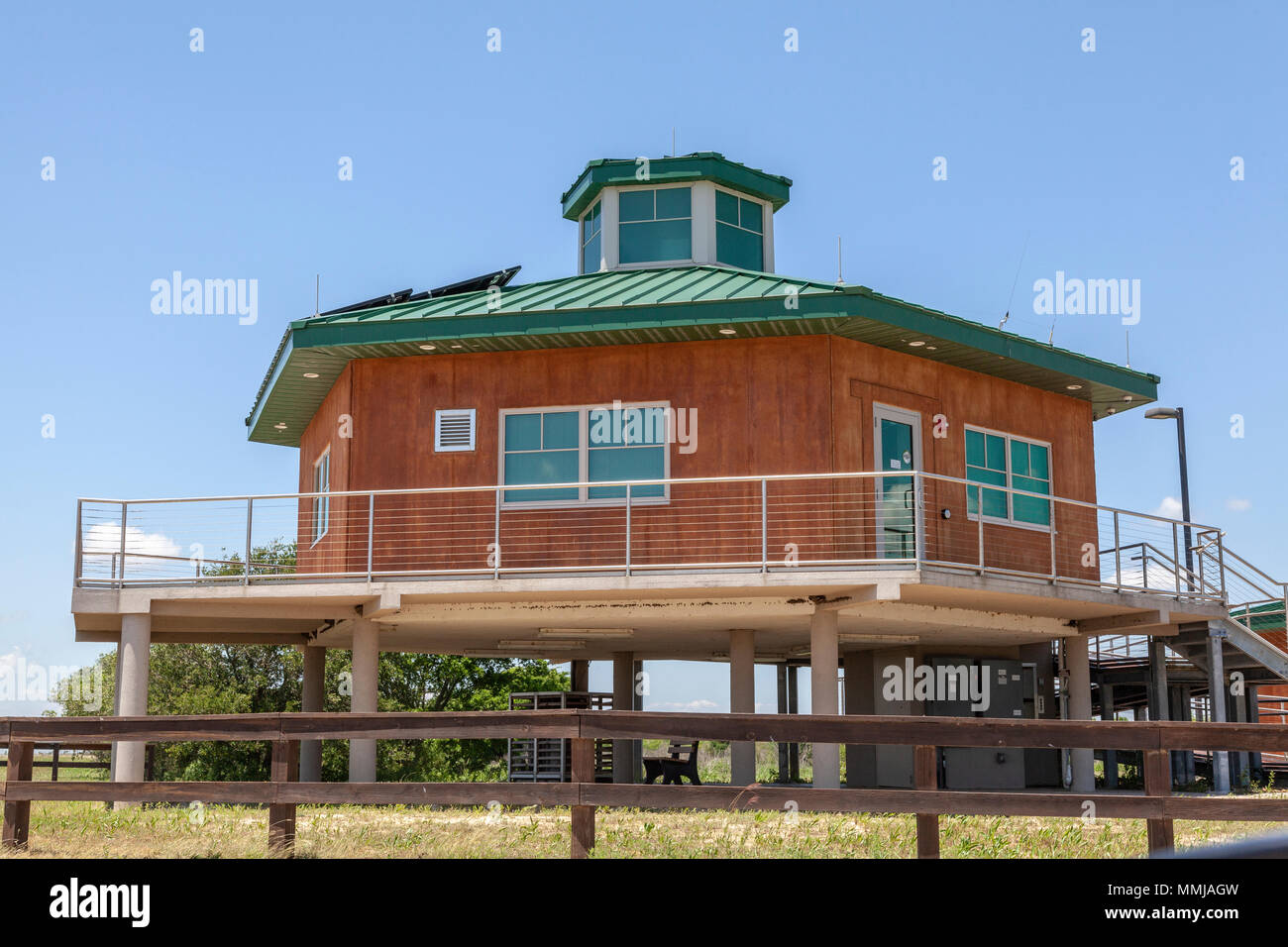 Visitor Center area at Anahuac National Wildlife Refuge in Southeastern Texas. - Stock Image
