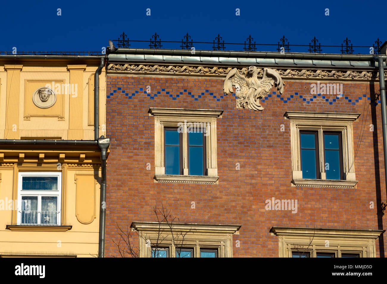 KRAKOW, POLAND - DECEMBER 16, 2016. Architecture detail in Krakow city center, Poland - Stock Image