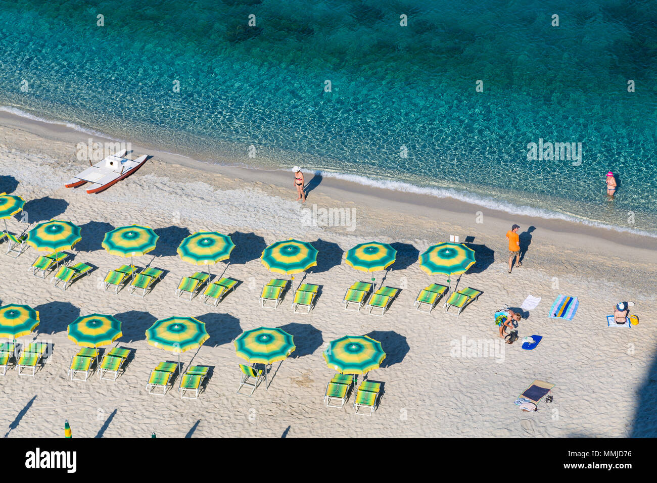 Beach in Tropea, Calabria, Italy - Stock Image