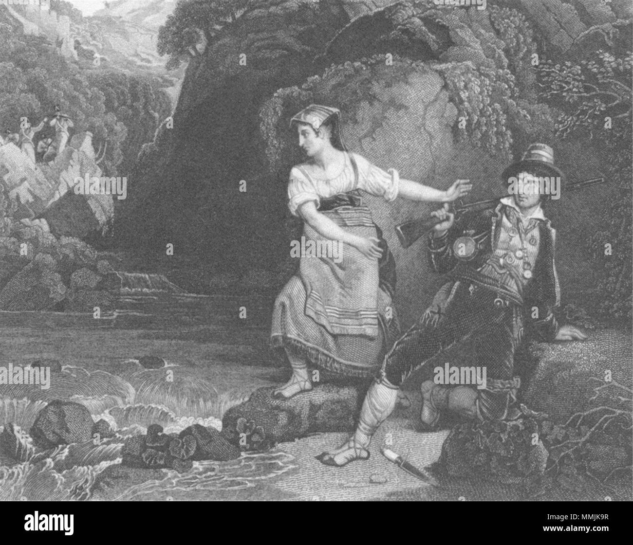 ROGUES. The Brigand c1830 old antique vintage print picture - Stock Image