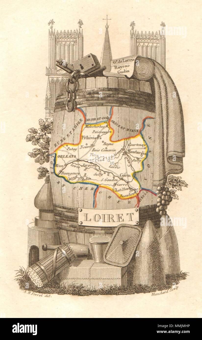 Sketch Map 1885 Old Antique Plan Chart Orléans Orleans & Environs Loiret