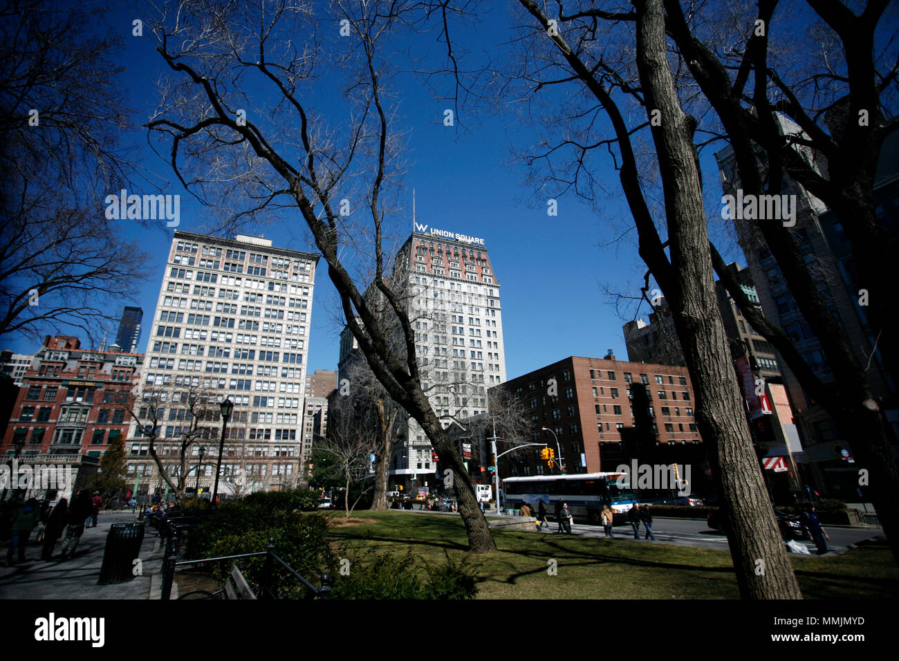 Union Square in Manhattan, New York CIty - Stock Image