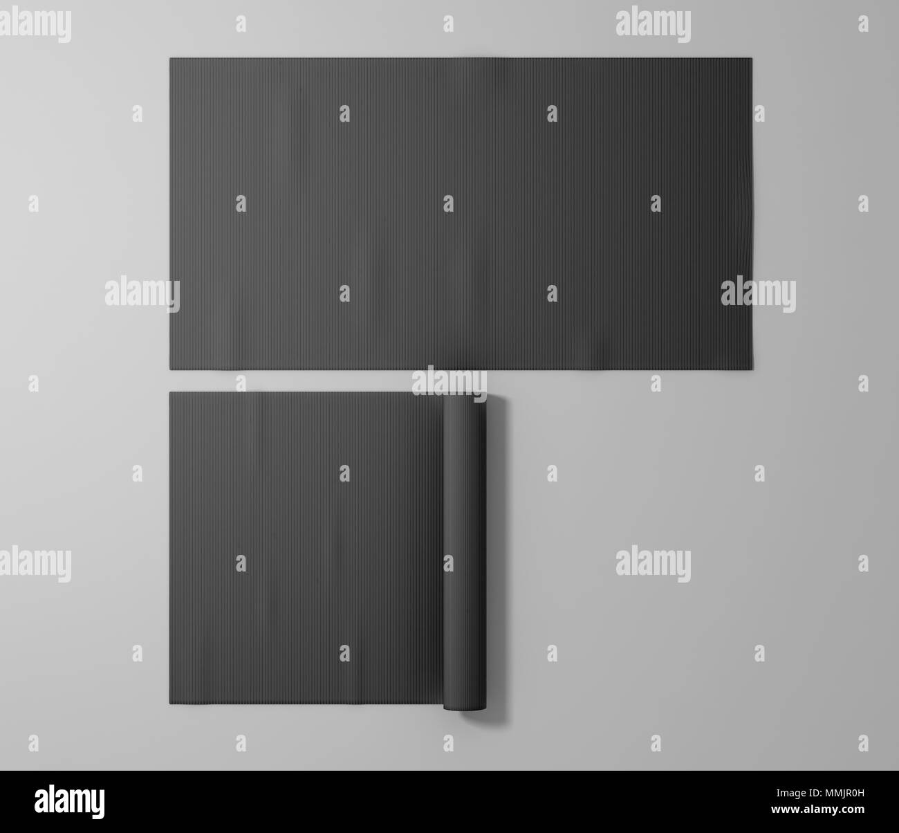 Yoga Mat Black And White Stock Photos & Images