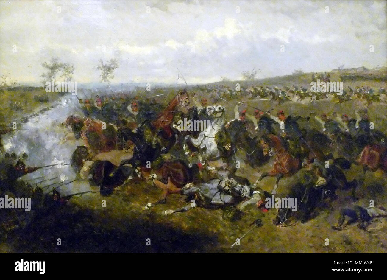 Das Gefecht von Schweinschädel (A. Bensa 1866) - Stock Image