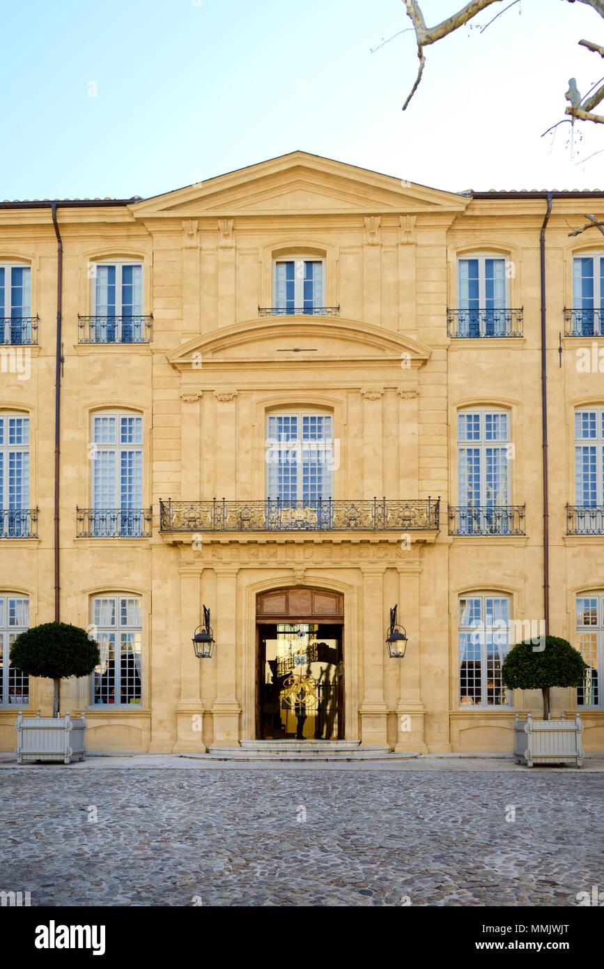 Hôtel de Caumont (1715-1742) Townhouse or Mansion, now the Caumont Art Centre, Aix-en-Provence Provence France - Stock Image