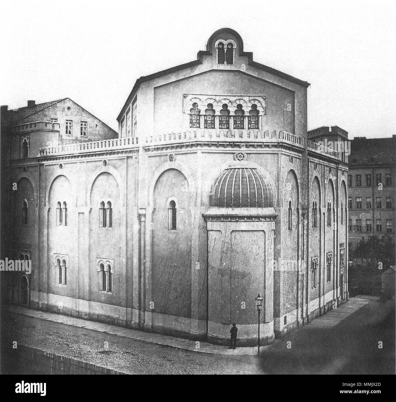 Große Gemeindesynagoge Leipzig - Stock Image