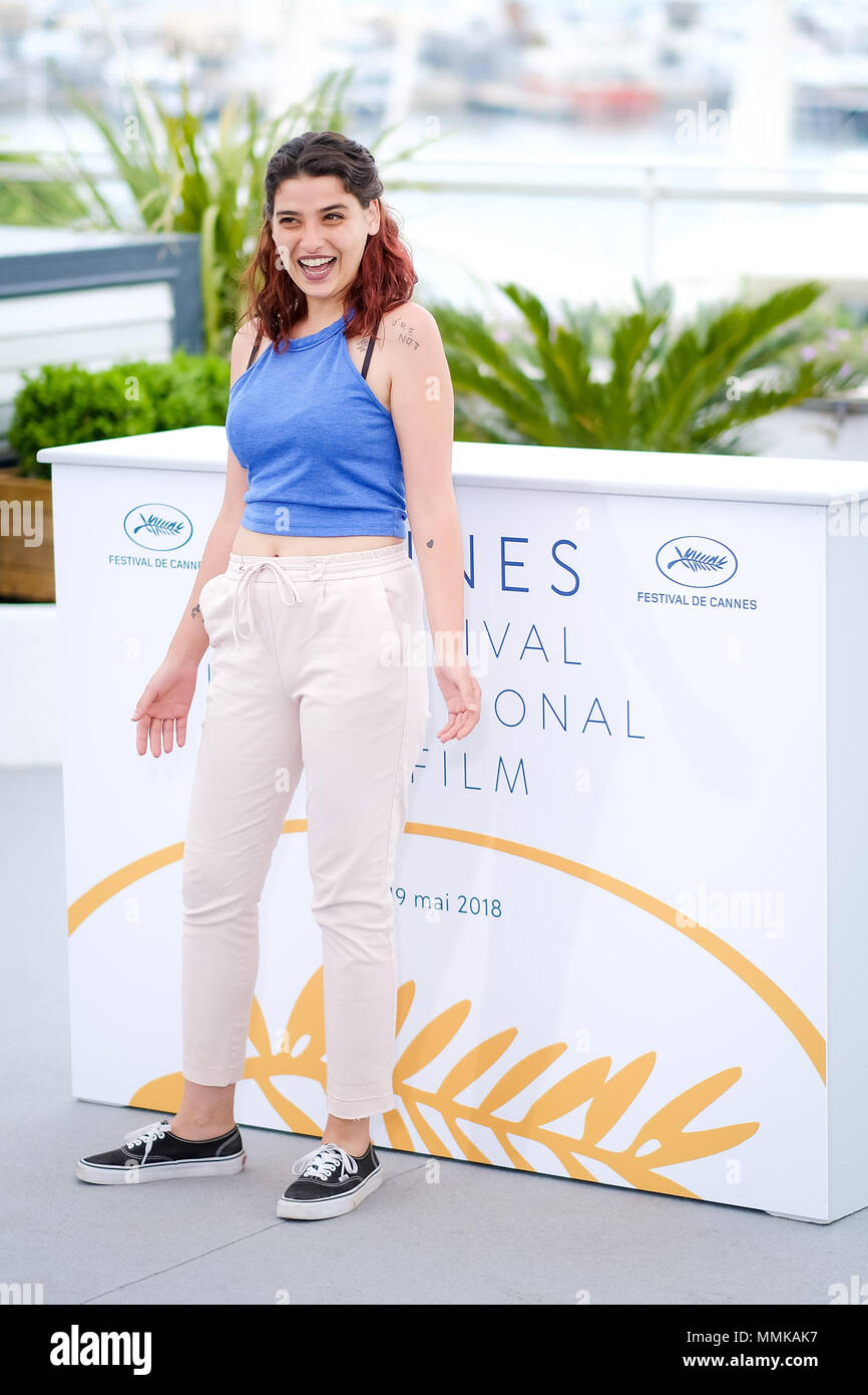 Cannes, France. 12th May 2018. Manal Issa at the 'My Favourite Fabric' photocall on Saturday 12 May 2018 as part of the 71st Cannes Film Festival held at Palais des Festivals, Cannes. Pictured: Manal Issa. Picture by Julie Edwards. Credit: Julie Edwards/Alamy Live News Stock Photo