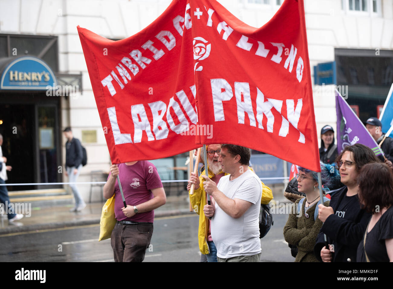 Trade Union rally in central London - Stock Image