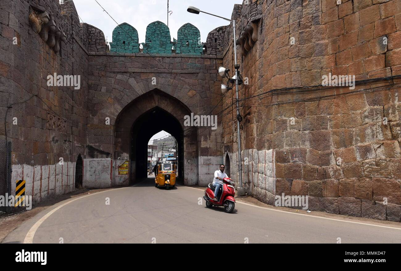 Hyderabad(India  12th May, 2018  A rider is seen in a steet
