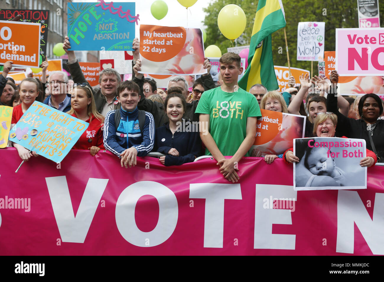 12/5/2018. Love Both Rally in Support of a No Vote in Irish Abortion Referendum, Dublin, Ireland Stock Photo