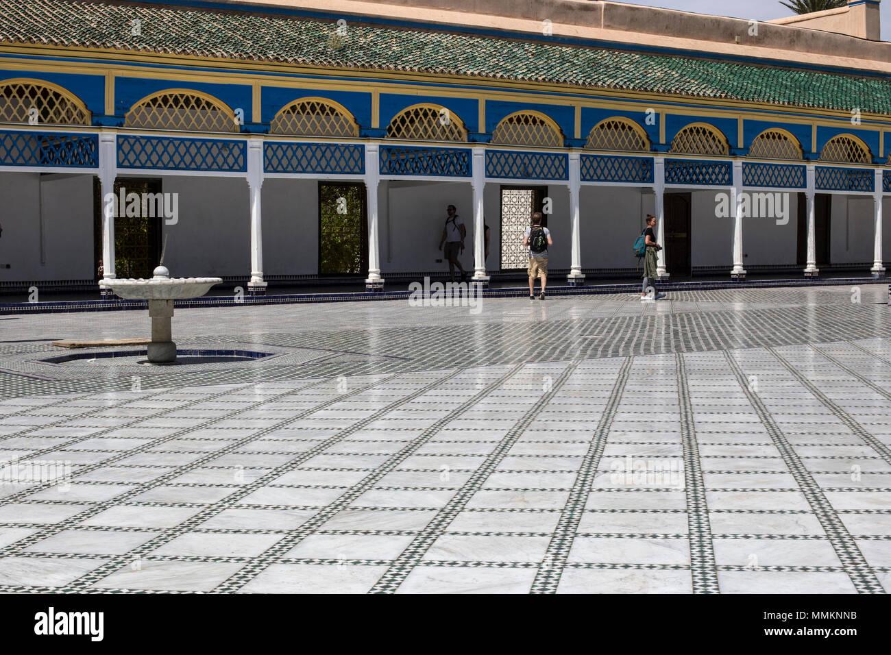 Bahia Palace Marrakesh - Stock Image