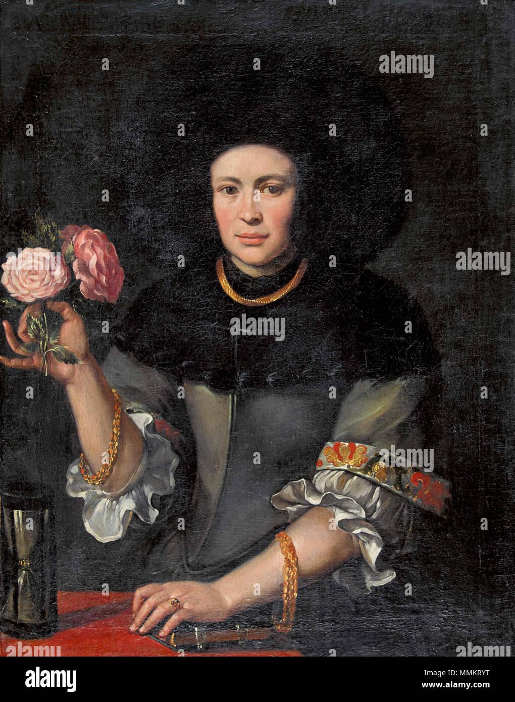.  Deutsch: Bildnis Katharina Koch geb. Langhans (1655–?), Gattin (I. Ehe) des Heinrich Koch, Gattin (II. Ehe) des Johannes Suter, Apotheker, Schultheiss von Zofingen.  . 1684. Anonym, Katharina Koch geb. Langhans - Stock Image