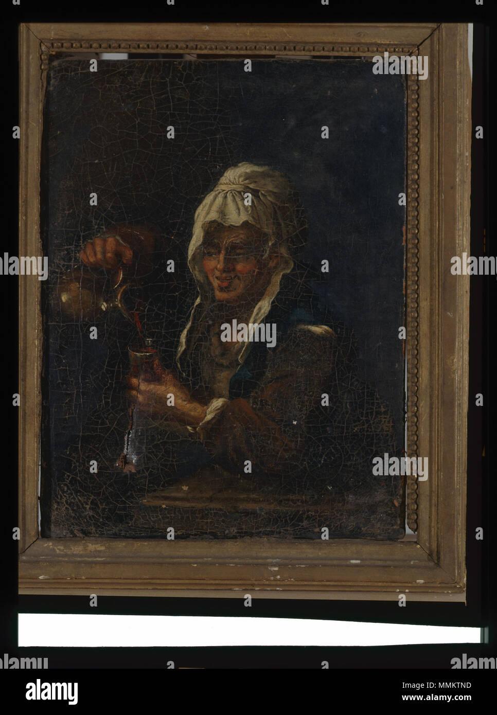 Buveuse - anonyme - musée d'art et d'histoire de Saint-Brieuc, DOC 106 Stock Photo