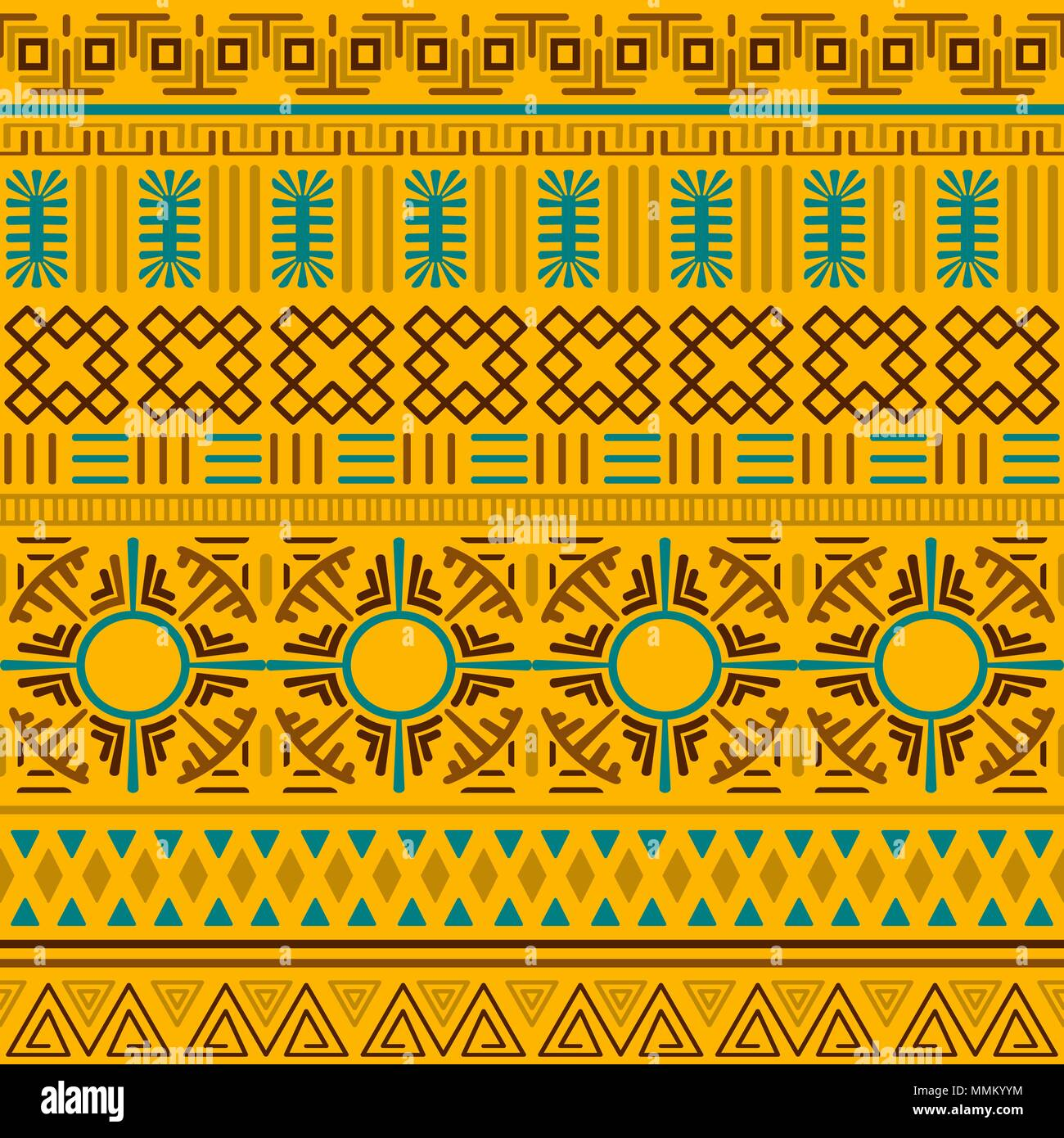 Tribal Ethnic Seamless Pattern Abstract Geometric Ornament With